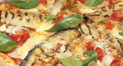 Pizza aubergines, pancetta et tomates cerises - Galbani
