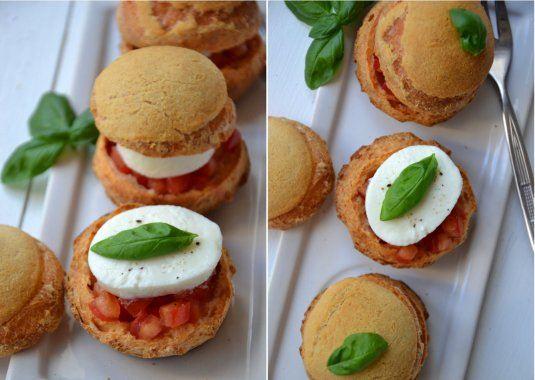 Choux tomate mozzarella et craquelin de parmesan - Galbani