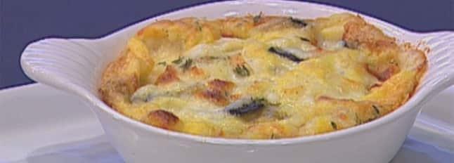 Clafoutis d'aubergines avec un coeur Mozzarella - Galbani