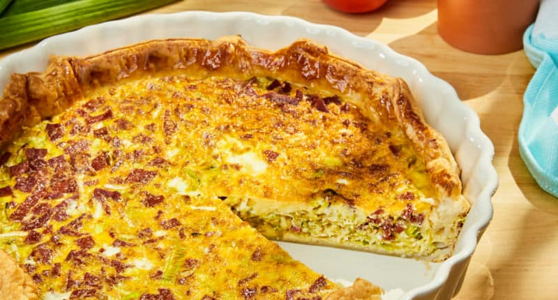 Tarte aux Poireaux, Ricotta et Chorizo - Galbani