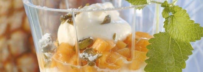 Tiramisu mangue ananas et menthe - Galbani