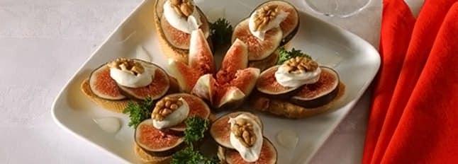 Croûtons aux figues et aux noix - Galbani