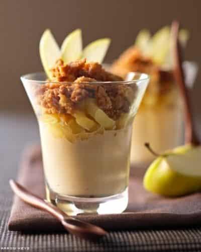 Crumble de pommes au beurre salé, ricotta et caramel - Galbani