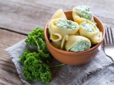 Escargots à la crème d'épinards et orecchiette de mozzarella - Galbani