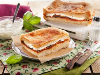 Fougasses aux Aubergines Frites, Sauce Tomate Et Ricotta - Galbani