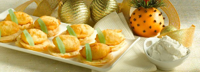 Bouchées de Ricotta et d'oranges frites - Galbani