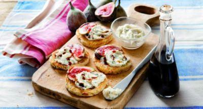 Toast au gorgonzola, figue et vinaigre de balsamique - Galbani