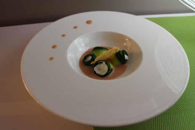 Fraîcheur de courgettes, ricotta, citron confit et sauce tomatée - Galbani