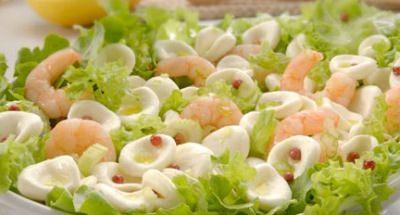 Salade de Billes de Mozzarella et Crevettes - Galbani