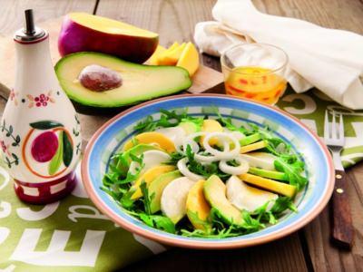 Salade Mozzarella, mangue et avocat - Galbani
