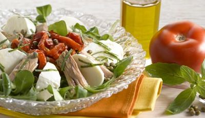 Salade de thon, Mozzarella et Poivrons - Galbani