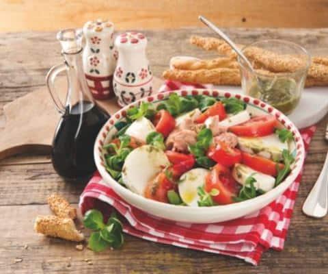 Salade au thon, mozzarella et poivrons - Galbani