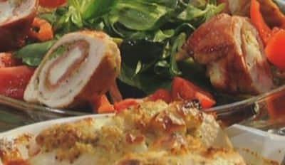 Roulés de poulet farcis à la Mozzarella et aux légumes croquants - Galbani