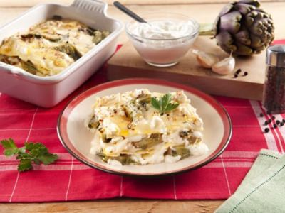 Lasagnes aux Artichauts et à la Ricotta - Galbani