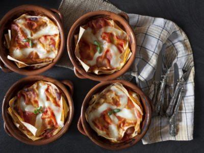 Lasagnes de Pain Sarde, aux Tomates et à la Mozzarella - Galbani