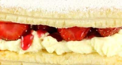 « Millefeuille » aux fraises - Galbani