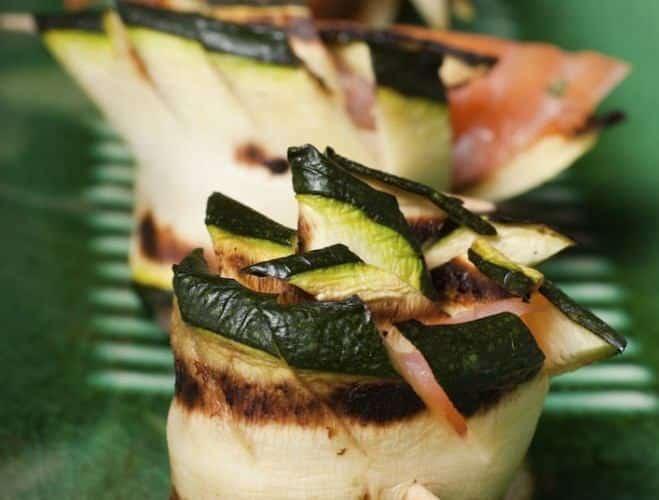 Mini-rouleaux de courgette à la ricotta et au saumon - Galbani