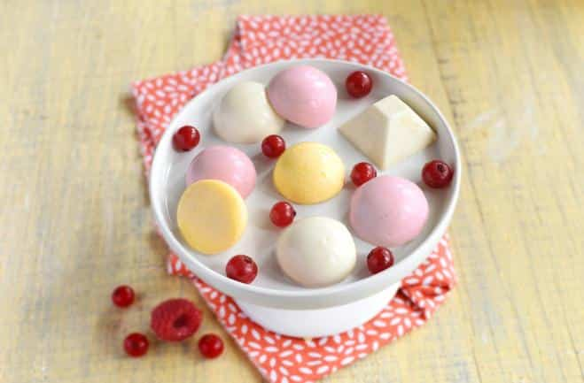 Petites bouchées de Panna Cotta multicolores - Galbani