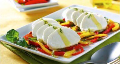 Mozzarella aux trois poivrons et basilic - Galbani
