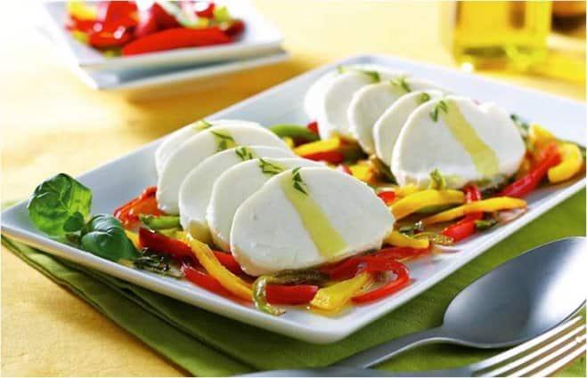 Salade de Mozzarella aux Poivrons et Basilic - Galbani