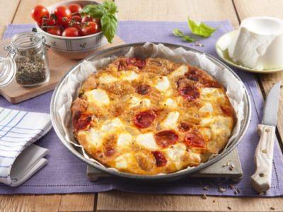 Omelette aux pommes de terre, tomates cerises et ricotta - Galbani