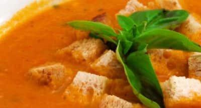 Soupe de tomate Mozzarella marinée citron, basilic - Galbani