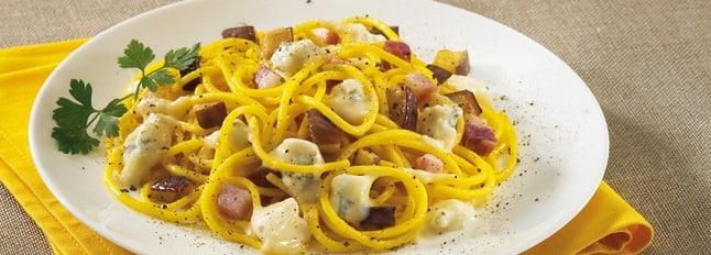 Pâtes aux aubergines et au Gorgonzola - Galbani