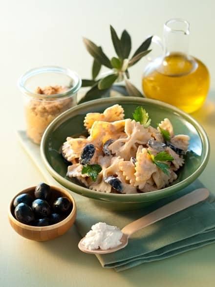 Pâtes Ricotta et aubergines aux olives noires - Galbani