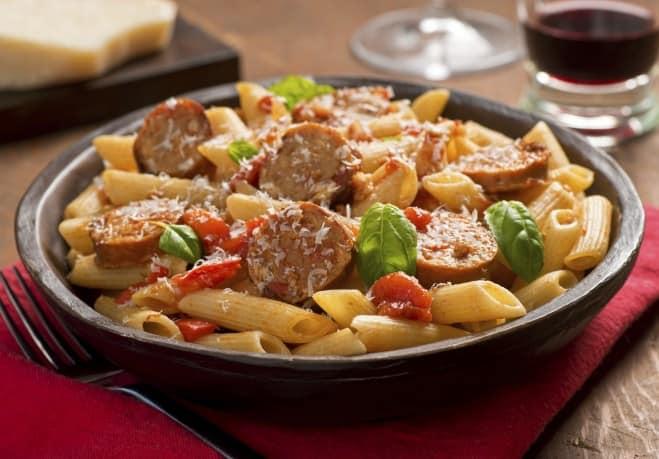 Pâtes ricotta et saucisse - Galbani