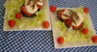 Aubergines farcies tomates et mozzarella - Galbani