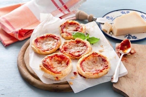 Pizzettes gratinées au Grana Padano - Galbani