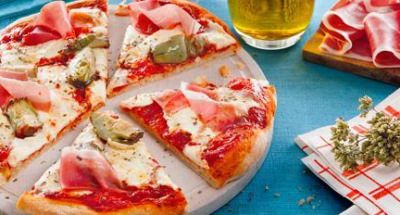 Pizza reine au jambon et aux artichauts - Galbani