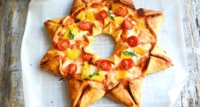 Pizza étoile tomates mozzarella et poivrons - Galbani