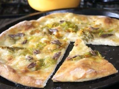 Pizza fleurs de courge et anchois - Galbani