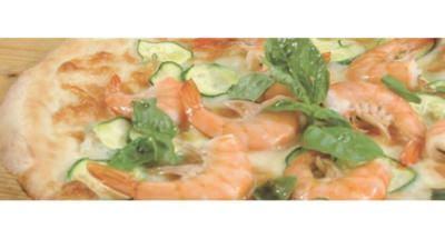 Pizza crevettes et courgettes - Galbani