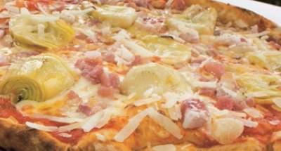 Pizza pancetta et jeunes artichauts - Galbani