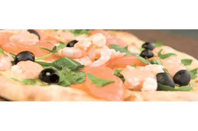 Pizza au saumon et aux crevettes - Galbani