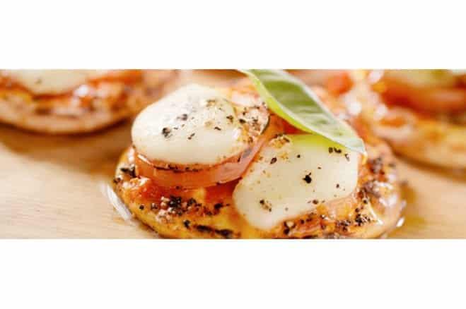 Mini pizzas parfumées au basilic - Galbani