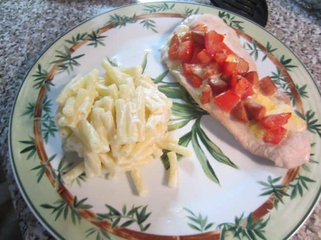 Poulet à l'italienne et ses pâtes - Galbani