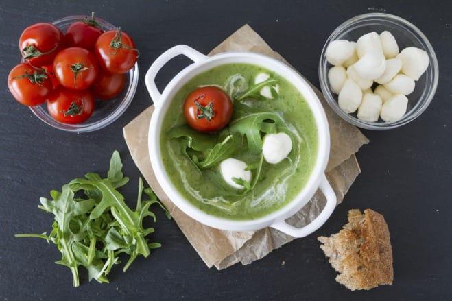 Purée de petits pois au jambon et Mozzarella - Galbani