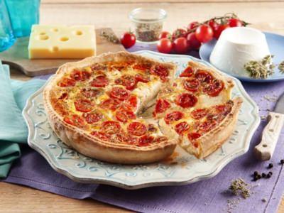 Quiche aux tomates cerises et ricotta - Galbani