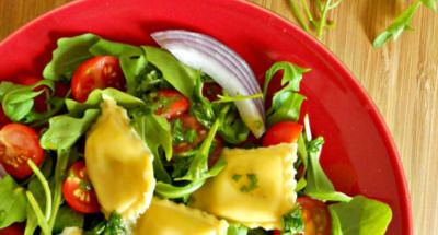 Ravioles aux Fromages italiens, Roquette et Tomates Cerise - Galbani