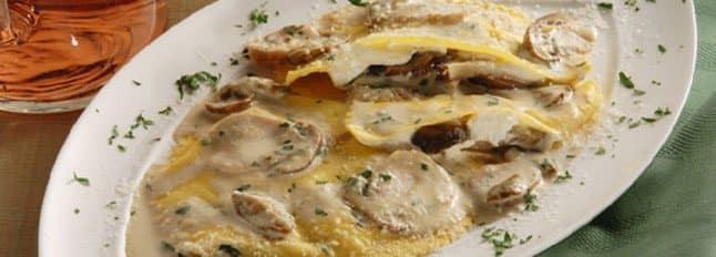 Ravioloni à la Crème de Fromage et aux Champignons - Galbani