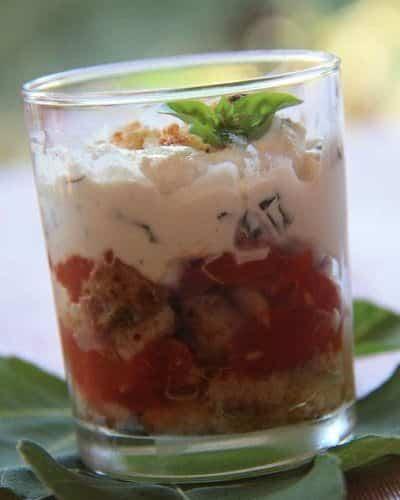 Verrines de crumble de ricotta et tomates confites - Galbani