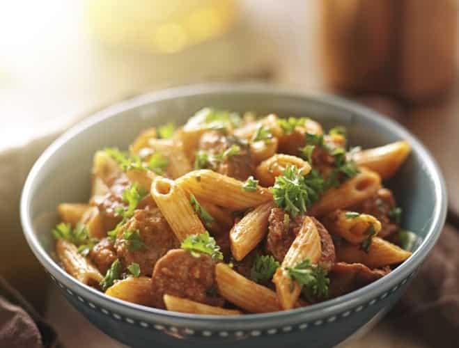 Rigatoni à la Mozzarella et saucisse de Francfort - Galbani