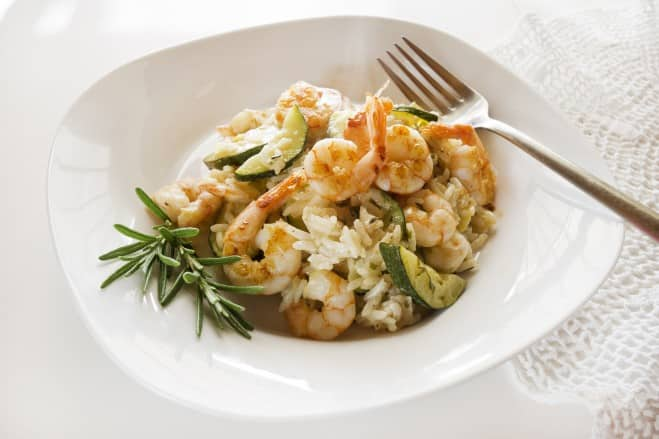 Risotto poireaux et crevettes - Galbani