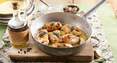 Roulés de poulet avec mousse de jambon et ricotta - Galbani