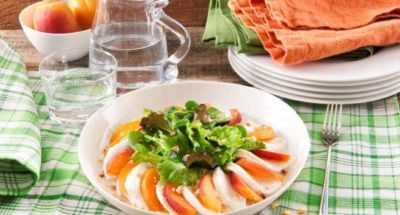Salade Caprese aux Abricots - Galbani