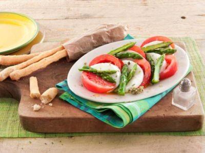 Salade Caprese aux Asperges - Galbani
