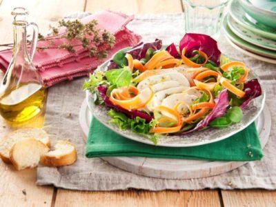 Salade mozzarella, carottes et chicorée - Galbani